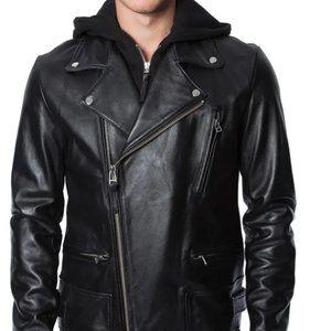 7 Diamonds 'Thunderbird' 2XL Leather Moto Jacket